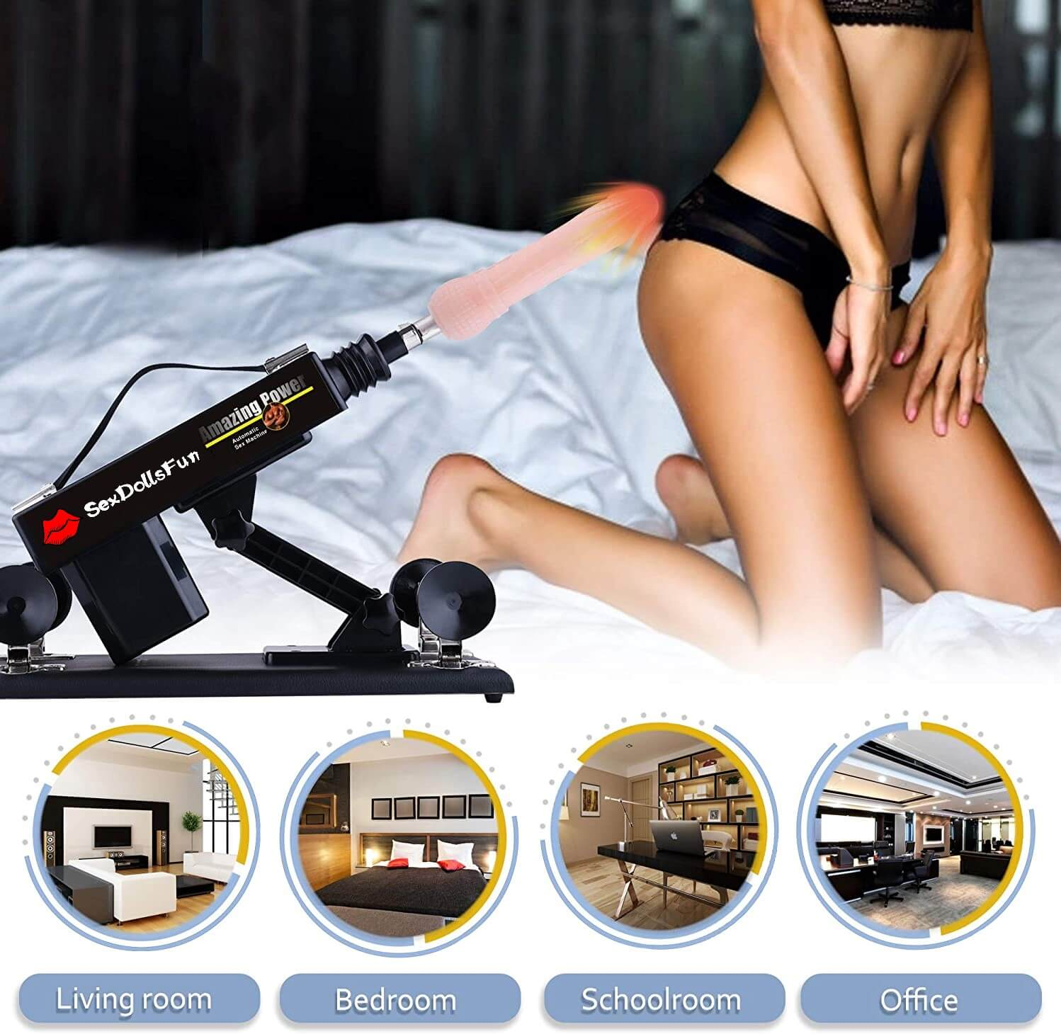 Sex Machine Love Automatic Machine for Male and Female Masturbation