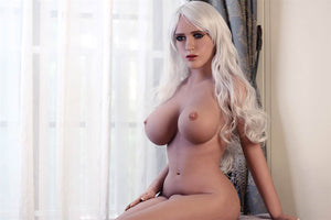 Aily Curvy Tan Sex Doll - Blonde Love Doll with Big Breasts and Butt