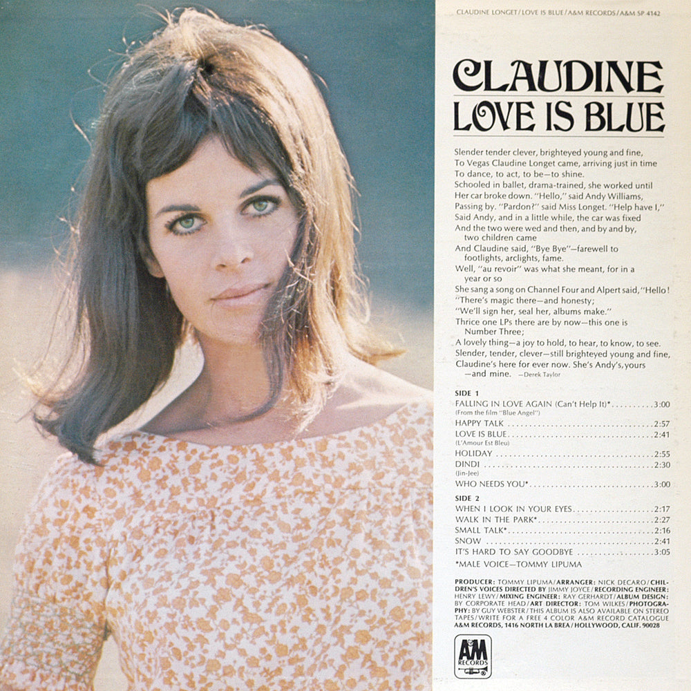 Claudine - Love Is Blue - Back Cover