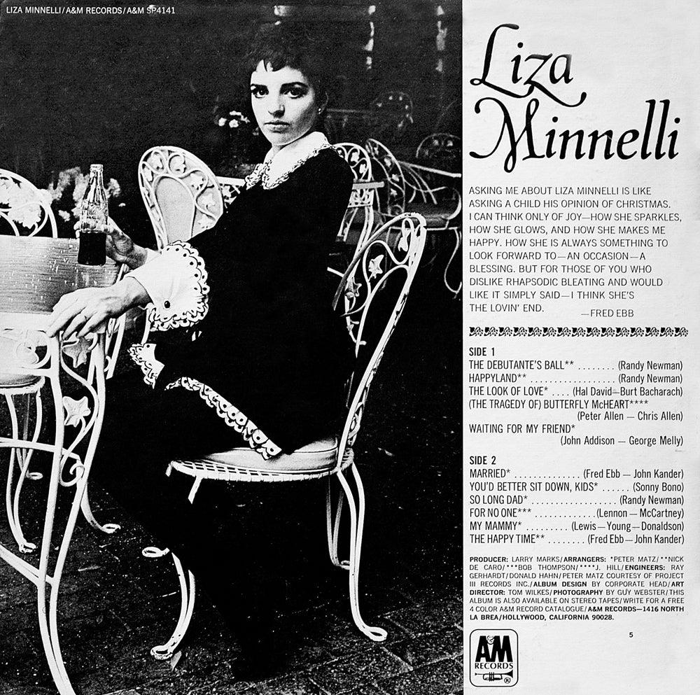 Liza Minnelli - Back Cover