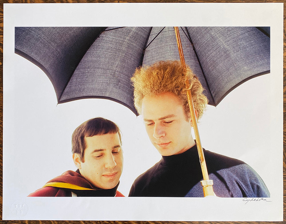 Simon And Garfunkel - Signed Print