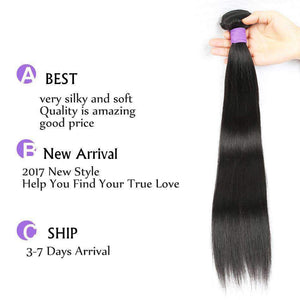 Peruvian Virgin Hair Straight Hair Wave 1 Bundle 10-30 inch
