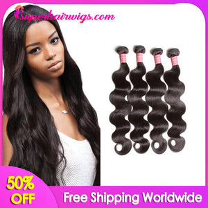 Peruvian Virgin Hair Body Wave Hair 4 Bundles