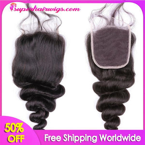 Peruvian Virgin Hair Loose Wave Hair Lace Closure