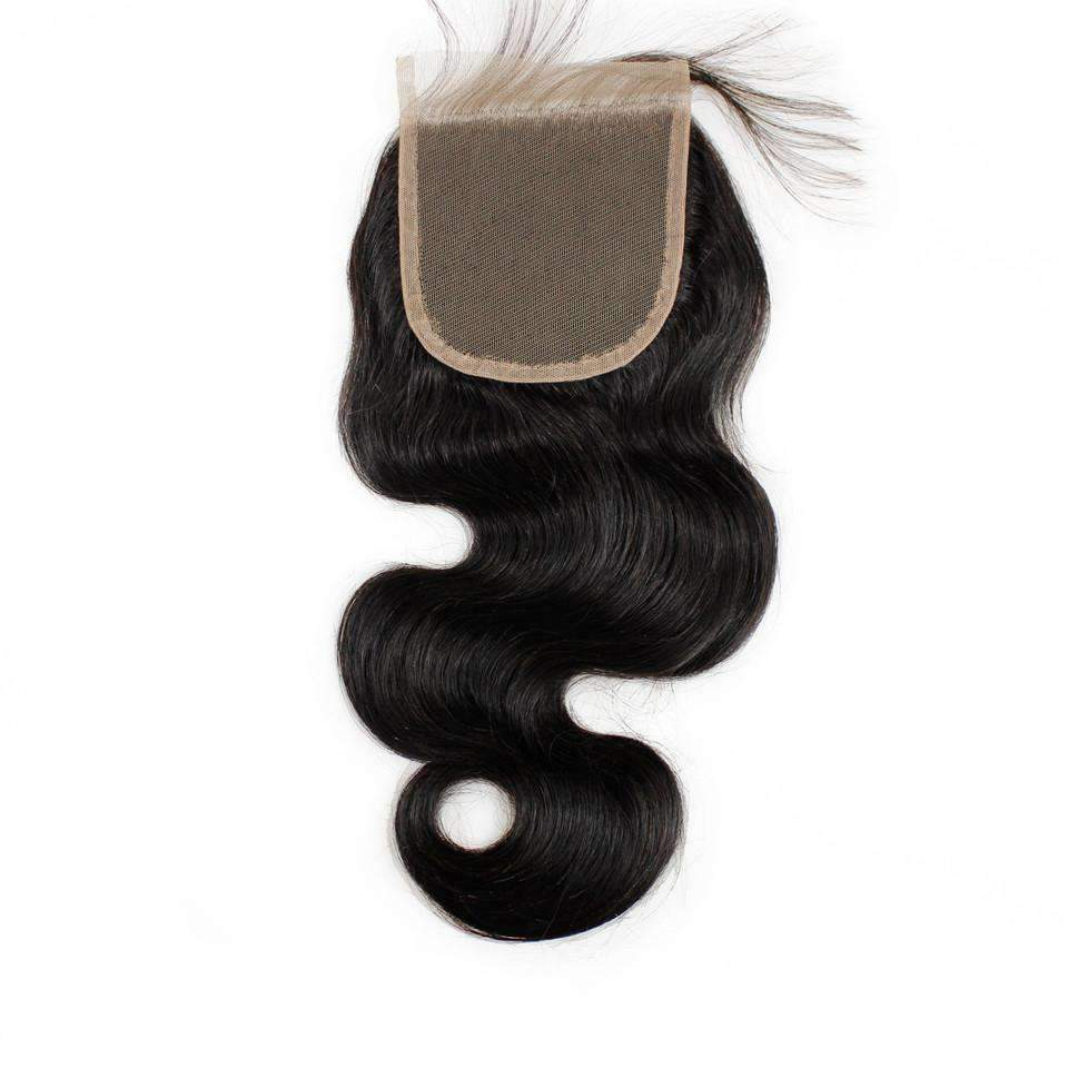 Peruvian Virgin Hair Body Wave Hair Lace Closure 4*4