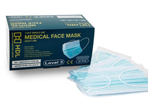 Medical Face Mask, ASTM Level 3 & CE (Adult, Individual Pack 30 pcs)