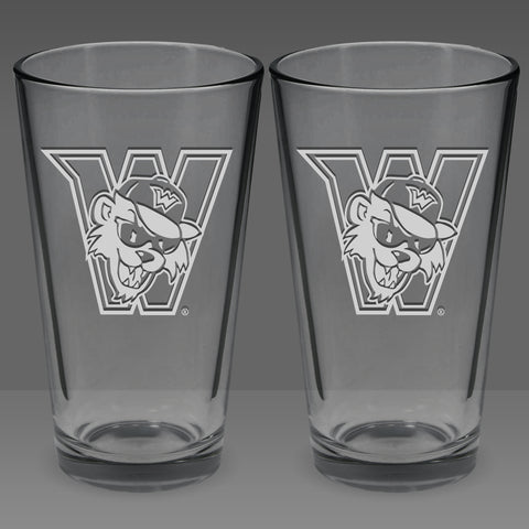 16oz. Drinking Glass - Set of 2