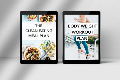 Image of 28 Day Clean Eating Meal Plan and Body Weight Exercise Book.