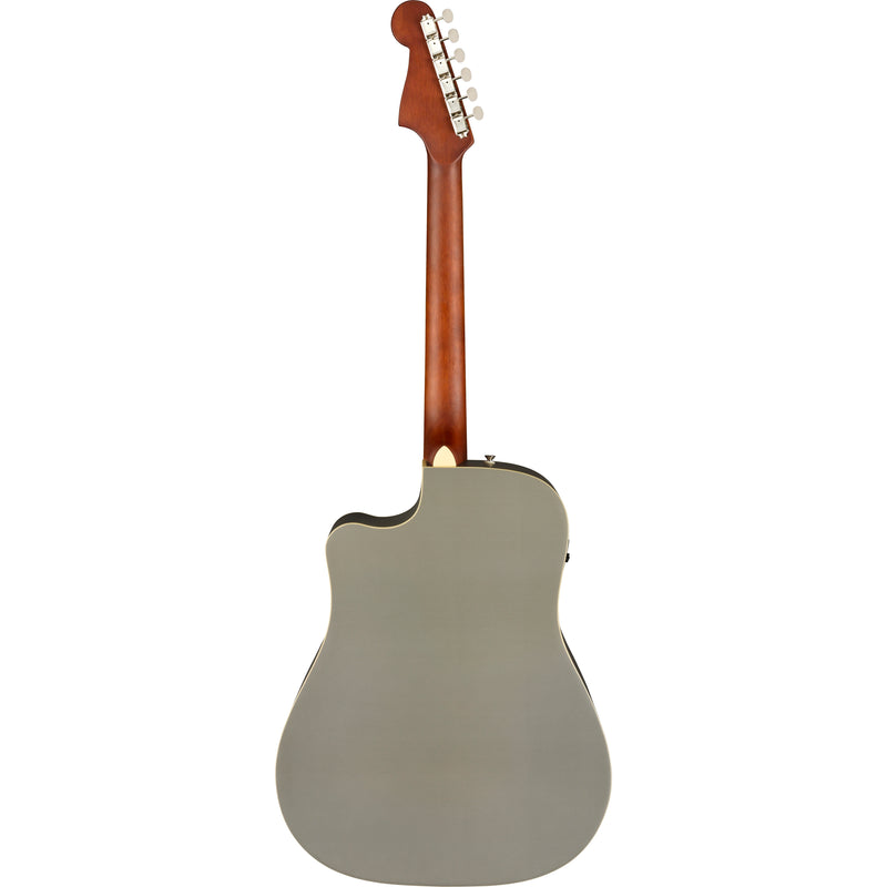 Fender Redondo Player Acoustic Guitar Slate Satin Finish - back