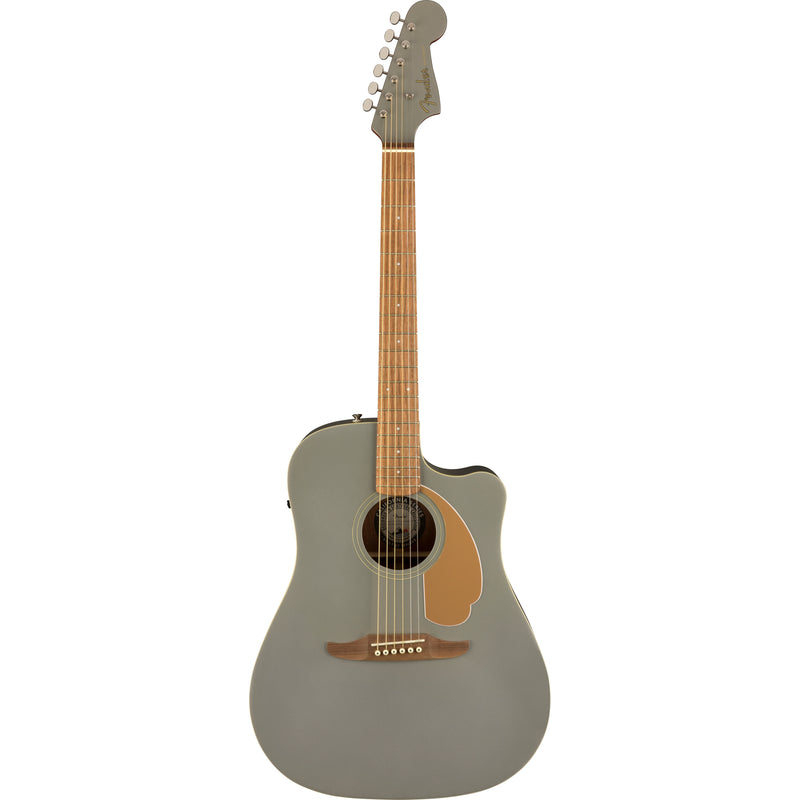 Fender Redondo Player Acoustic Guitar Slate Satin Finish - front