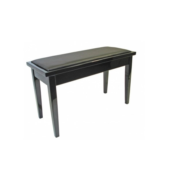 AMS KTW11 Duet Piano Bench Polished Ebony