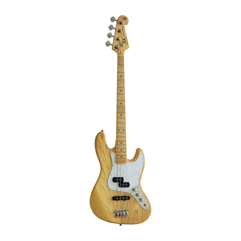 SX ASH5PJ Electric Bass Guitar - Natural