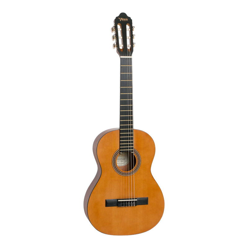 Valencia VC203 Left Handed 3/4 Size Classical Guitar - Natural