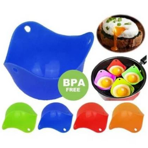Set of 4 Silicone Egg Poach Pods