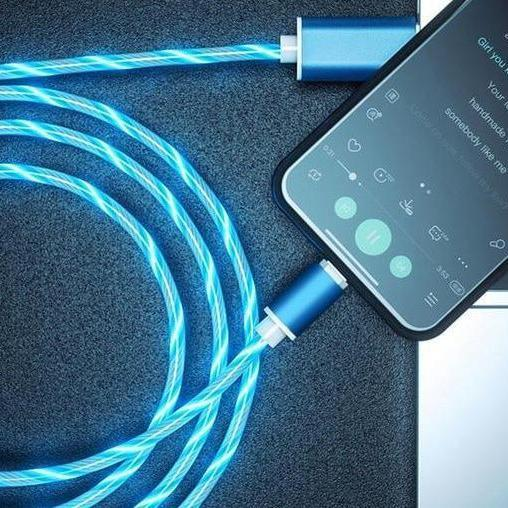 Last day promotion 🔥 iGlow™ Glowing LED Magnetic 3 in 1 USB Charging Cable