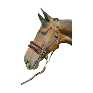 Hy Faux Fur Padded Head Collar with Lead Rope