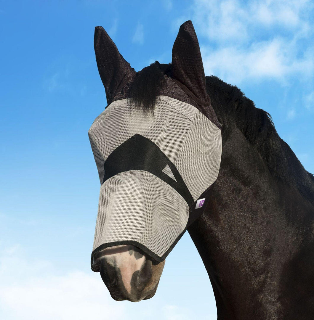 KM Elite - FLY MASK - Pony - with ears and nose