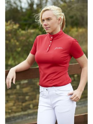 John Whitaker Bling Signature Performance Polo XL Red