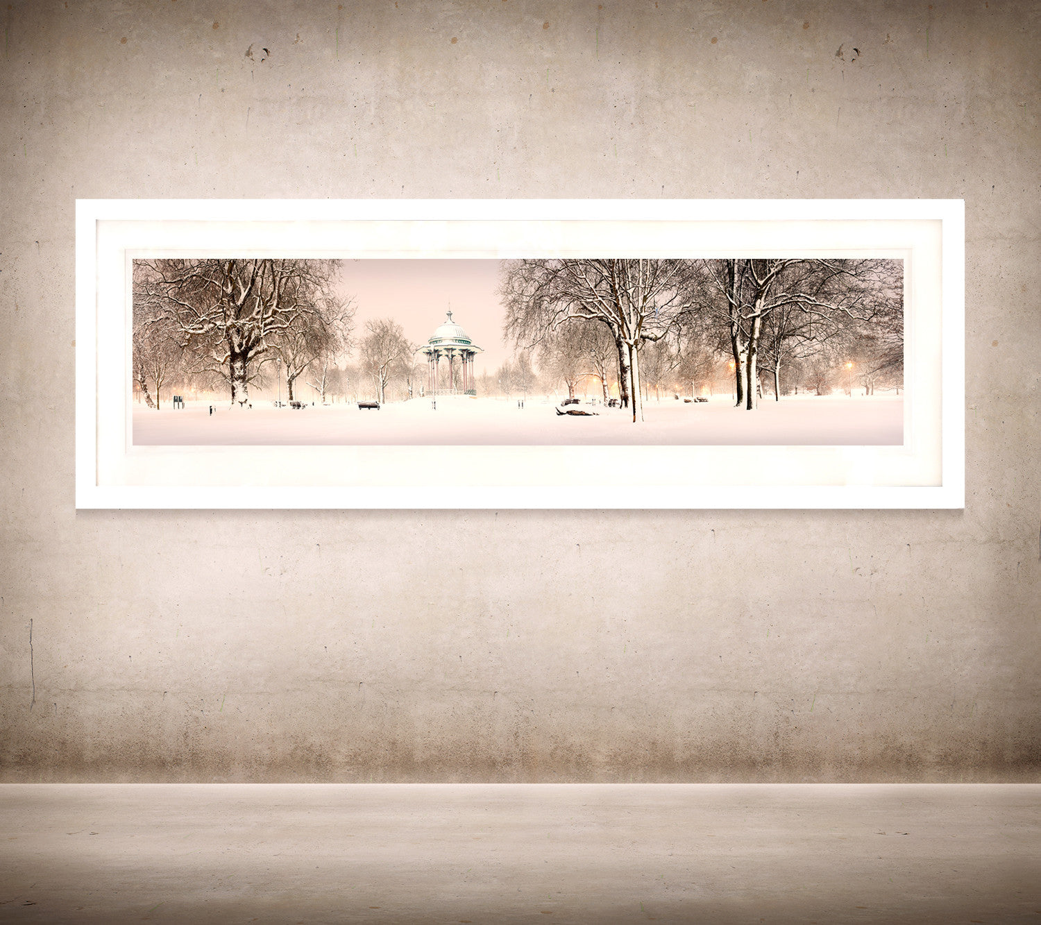 Dinosaurs at crystal palace neil williams clapham bandstand snow at dawn framed in white jeuxipadfo Gallery