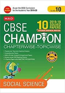 10 Years CBSE Champion Chapterwise-Topicwise Social Science -Class- 10