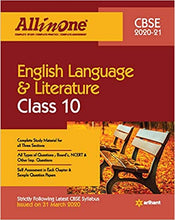 Load image into Gallery viewer, CBSE All In One English Language & Literature Class 10 for 2021 Exam