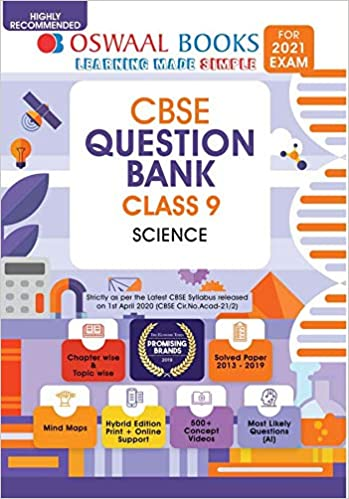 Oswaal CBSE Question Bank Class 9 Science (For 2021 Exam)