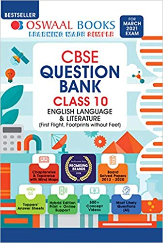 Oswaal CBSE Question Bank Class 10 English Language & Literature Book (For 2021 Exam)