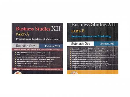 Business Studies for Class 12 (Set of Part-A Part-B) Principles and Functions of Management (Examination 2020-2021)