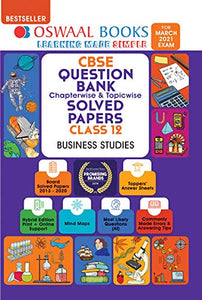 Oswaal CBSE Question Bank Class 12 Business Studies Book Chapterwise & Topicwise Includes Objective Types & MCQ's (For 2021 Exam)