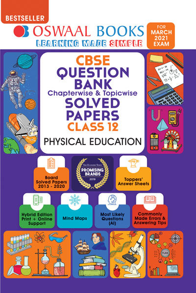 Oswaal CBSE Question Bank Class 12 Physical Education Book Chapterwise & Topicwise Includes Objective Types & MCQ's (For 2021 Exam)
