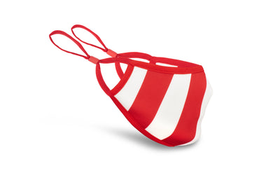 Red & White Anti-Viral Mask Single