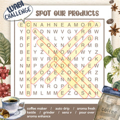 Crossword Puzzle Coffee Knowledge for Thanksgiving Games