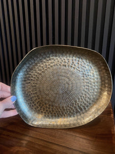 Etched Burnished Brass Tray