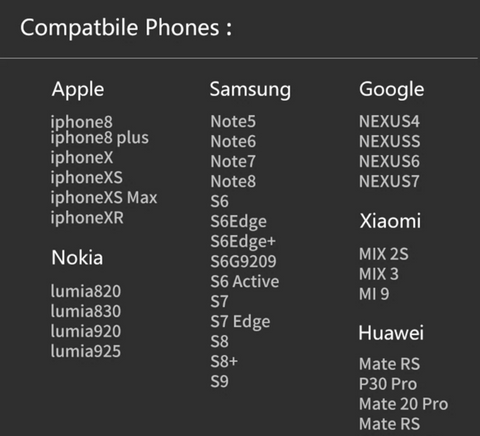 supported phone models
