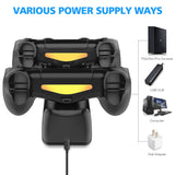 Fast Charging Dock Station Stand Charger for PS4/PS4 Slim/PS4 Pro Game Controllers