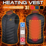Electric Heated USB powered Vest stay warm while enjoying the outdoors