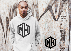 MH white hoody-Matches the MH black Joggers & black hat