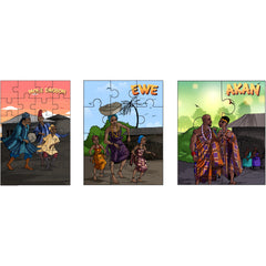 Sheni and Teni's 3-in-1 Puzzle Set - Ghana