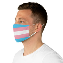 Load image into Gallery viewer, Transgender Flag Fabric Face Mask