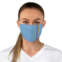 Load image into Gallery viewer, Blue Rainbow Stripe Fabric Face Mask