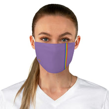 Load image into Gallery viewer, Purple Rainbow Stripe Fabric Face Mask