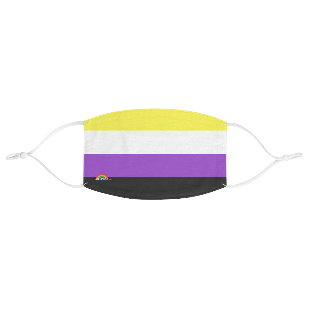 Non-binary Flag Fabric Face Mask