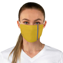 Load image into Gallery viewer, Yellow Rainbow Stripe Fabric Face Mask