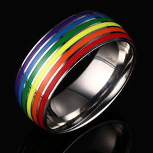 Load image into Gallery viewer, Gay Pride Rainbow Stainless Steel Ring-Accessories-ATLPride.com
