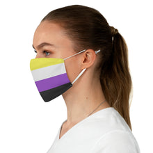 Load image into Gallery viewer, Non-binary Flag Fabric Face Mask