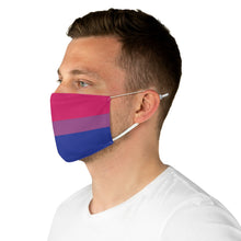 Load image into Gallery viewer, Bisexual Flag Fabric Face Mask