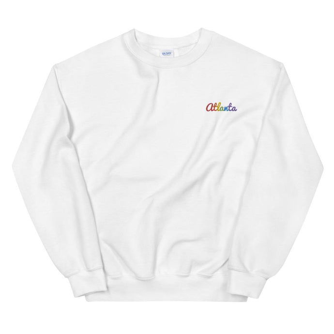 Embroidered Rainbow Atlanta Sweatshirt-Shirts-ATLPride.com