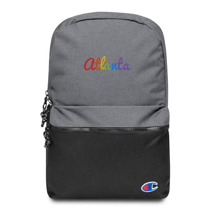 Rainbow Atlanta Embroidered Champion Backpack-Accessories-ATLPride.com
