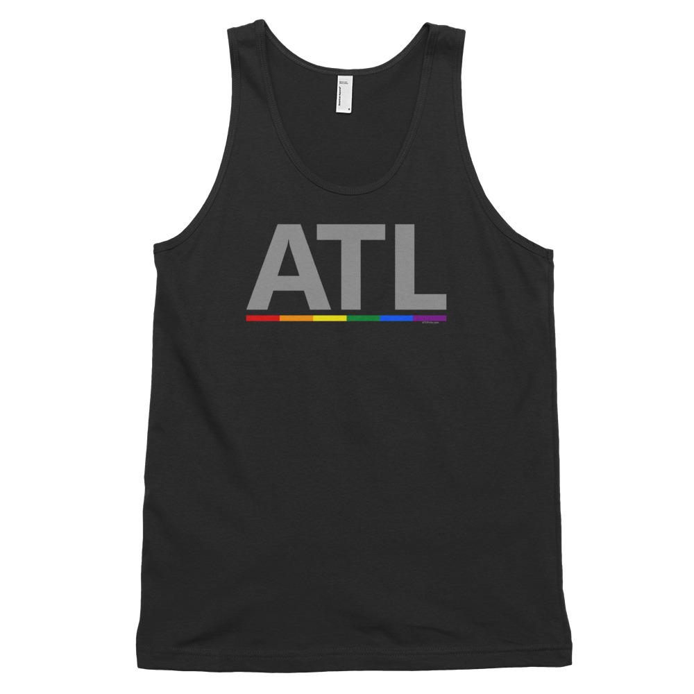 American Apparel ATL Rainbow Bar Tank Top-Shirts-ATLPride.com