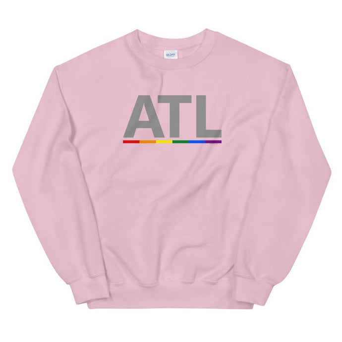 ATL Rainbow Bar Sweatshirt-Shirts-ATLPride.com